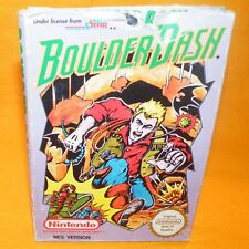 VINTAGE 1990 NINTENDO ENTERTAINMENT SYSTEM NES BOULDER DASH CARTRIDGE VIDEO GAME