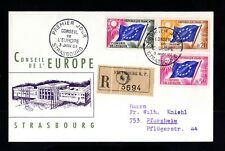 959-FRANCE-REGISTERED FDC.COVER STRASSBURG.1963.French enveloppe Conseil EUROPE.