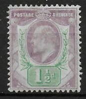 SG223  1&1/2d. Pale Dull Purple & Green (chalky). MM. Cat.£40. Ref:0457