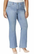 Melissa McCarthy Seven7 Plus Size Blue Wash Flare Jeans $89 Hip slenderizing NWT