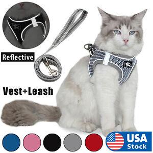 Cat Harness Reflective Walking Adjustable Vest Lightweight,  5ft Leash