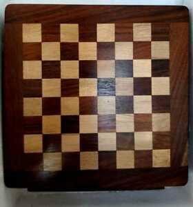 New Large Chess Wooden Set Mabnetic Pieces Wood Board Game UK HOT Chessboard