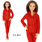 ELENPRIV FA-011 red jacket pants outfit for Barbie MTM Poppy Parker dolls