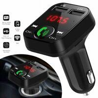 B2 Bluetooth Car USB Charger FM Transmitter Wireless Radio Adapter MP3 Player US