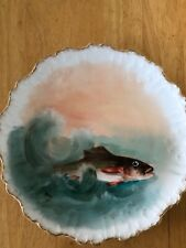 Limoges, France 9 1/2� Ldbc Flambeau Signed Plate with Fish Design