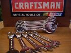 NEW CRAFTSMAN FULL POLISH STUBBY COMBINATION WRENCH SAE OR METRIC~ SINGLE OR SET