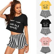 Womens Eyelash Short 2PCS Pyjamas Set Ladies Dresses Loungewear Nightwear Pj Set