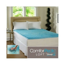 Queen Mattress Topper 2 Inch Beautyrest Cool Gel Memory Foam Bed Cover Protector