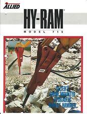Equipment Brochure - Allied 715 725 Hy-Ram Hydraulic Hammer 2 items (E3684)