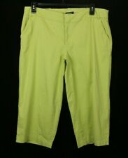Avenue Womens Capri Pants Green Stretch Size 16