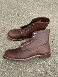 """Red Wing Heritage 6"""" Iron Ranger Work Boots Men's 11 EE Wide Amber Harness 8111"""