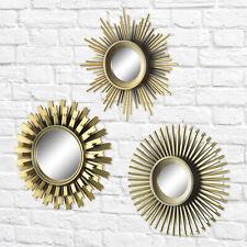 Wall Mount Mirrors Set 3 Pcs Mirror Home Furniture Modern Decor Decorative Gold