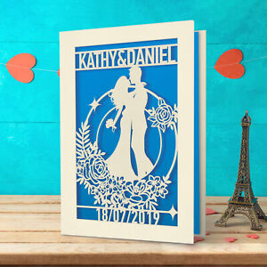 Personlised Wedding Anniversary Engagement Card Memory Keepsake Customized Gift