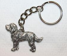 Labradoodle Dog Fine Pewter Keychain Key Chain Ring Fob