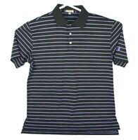 Peter Millar Summer Comfort Mens Golf Polo Shirt Short Sleeve Size L Deer Logo