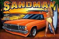 "Holden ""Sandman"" Panel Van Surf Chick Sticker or Magnet"