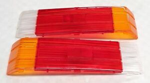 MAZDA 323 GLC BD 81-85 HATCH REAR TAIL BRAKE LIGHTS LENSES PAIR GENUINE NOS