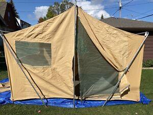 RARE! Laacke & Joys Wildwood 1960's Heavy Canvas Cabin Wall Tent 8' x 10'