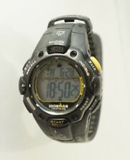 Timex Ironman Shock Resistant 30 Lap Watch Black/Yellow Mid Size