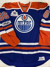 EDMONTON OILERS Game Worn Used Jersey NHL  DRAKE CAGGIULA TM