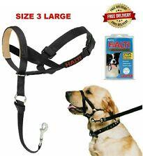HALTI Head Collar Size 3 Large Black Gentle Stop Pull Dog Lead Padded Noseband