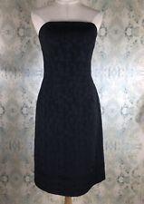 Anthropologie Shoshanna Black Strapless Textured Jacquard Sheath Dress 8 Medium