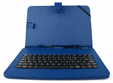 "Blue Case w/ AZERTY Keyboard for Coby Kyros 7-Inch, MID8126, MID7024 7"" Tablet"