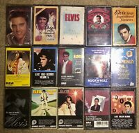 LOT OF 23 ELVIS CASSETTE TAPES FROM ELVIS WITH LOVE TOP TEN HITS IS SEALED LOOK!