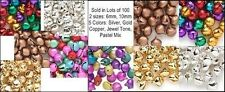 400 Jingle Bells~ Pick your Colors~ Silver/Gold/Copper/Mixed Beads Charms 6+10mm