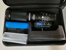 FLASHLIGHT LED X800 Bright Zoom Military Grade Torch, AAA and 18650 Battery
