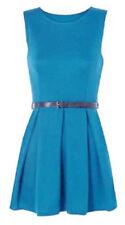 Robes bleus courts sans manches pour fille de 2 à 16 ans