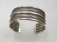 SOUTHWEST TWISTED ROPE CUFF BRACELET SIGNED GAHE N514-C