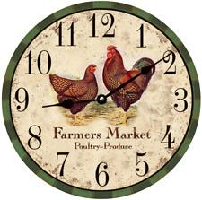 Farmers Market Clock- Market Clock- Kitchen Clock