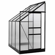 Ogrow Aluminium Lean-To Greenhouse  25 Sq. Ft.  With Sliding Door And Roof Vent