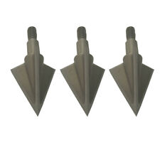 6Pk Archery Hunting Broadheads 100 grain X3 Compound Bow Arrow Heads 3 Blades