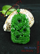 New ListingFashion Green Jade Dragon Necklace Pendant Charm Jewelry Lucky Amulet Hot