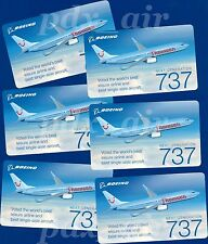 SIX FORMERLY THOMSON AIRWAY BRITISH AIRLINE BOEING 737-800 SKY INTERIOR STICKERS