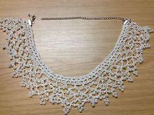 Faux perle blanche collier tour de cou pour femmes-ivoire col en dentelle bijoux