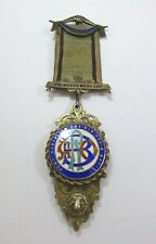 Vintage 1920s Royal Order of the Buffaloes Enamelled Silver Jewel Medal