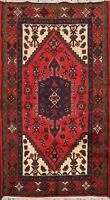 New Geometric Hamedan Area Rug Wool Hand-knotted Oriental Carpet 3x5