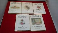 5x Beatrix Potter HB Books 1980s Tale of Flopsy Bunnies Timmy Tip-Toes + 3