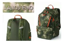 Lands End ClassMate Mossy Bark Tie Dye Green Camo Large Backpack NEW