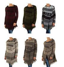 Lange Damen-Pullover & -Strickware aus Wolle mit Knöpfen