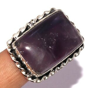 AMETHYST LACE 925 SILVER PLATED RING US 9, S-2535