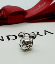 New Authentic Genuine PANDORA Disney Silver Mickey's Portrait Charm - 791586