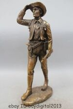 19 Western Art Bronze Statue Famous of hunter hunt Men Statue Dick and Cowboy