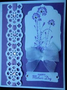 Handmade Mother's Day Card Using Stampin Up and Spellbinders Lavender Lacey Blin