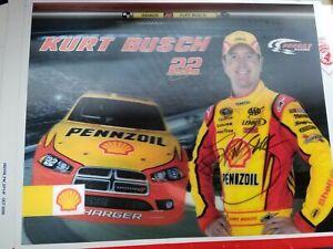 Kurt Busch Shell #22  3-D   Postcard autographed from the 2011 season