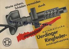 UERDINGEN, Prospekt um 1935, Ringfeder GmbH Ringfeder-Anhängekupplung