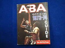 1973 74 ABA official basketball guide  Sporting News   DR J    Chamberlain